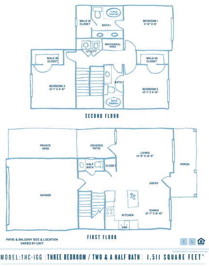 1,511 sq. ft. Pgthc1gb floor plan