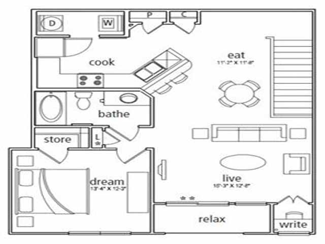 952 sq. ft. Venice floor plan