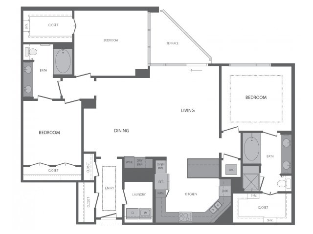 1,797 sq. ft. R floor plan