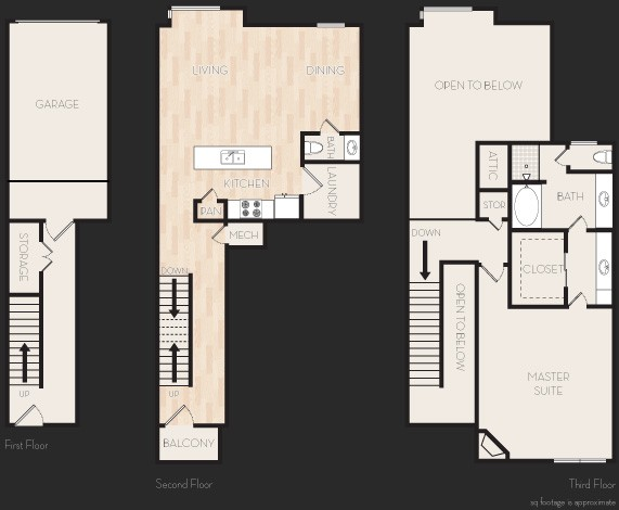 1,416 sq. ft. A6T floor plan