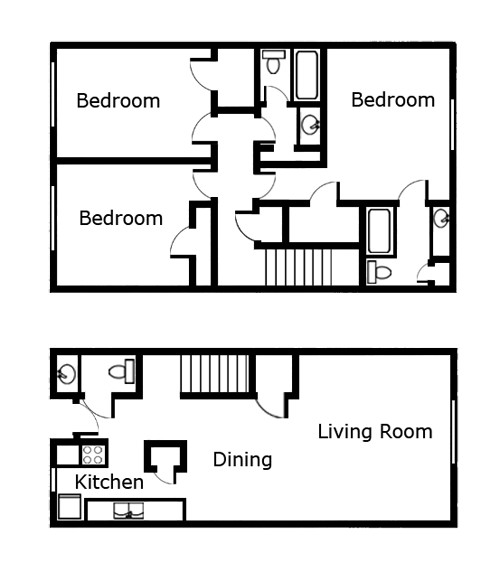 1,438 sq. ft. C2 floor plan