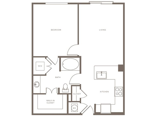 712 sq. ft. A4 Alt floor plan