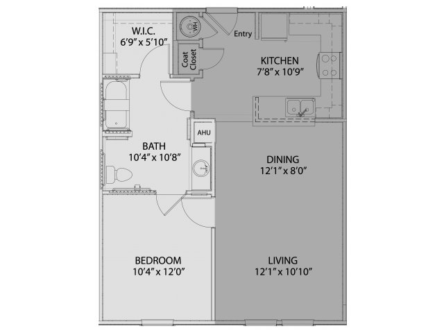 705 sq. ft. to 707 sq. ft. 60% floor plan
