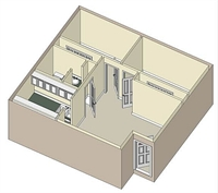 625 sq. ft. 60 floor plan