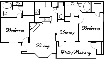 1,016 sq. ft. TRAVIS floor plan