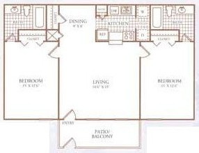 978 sq. ft. G floor plan