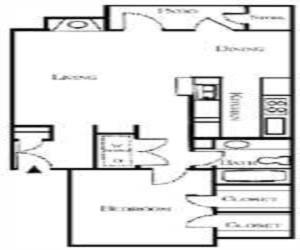 750 sq. ft. Bennett floor plan