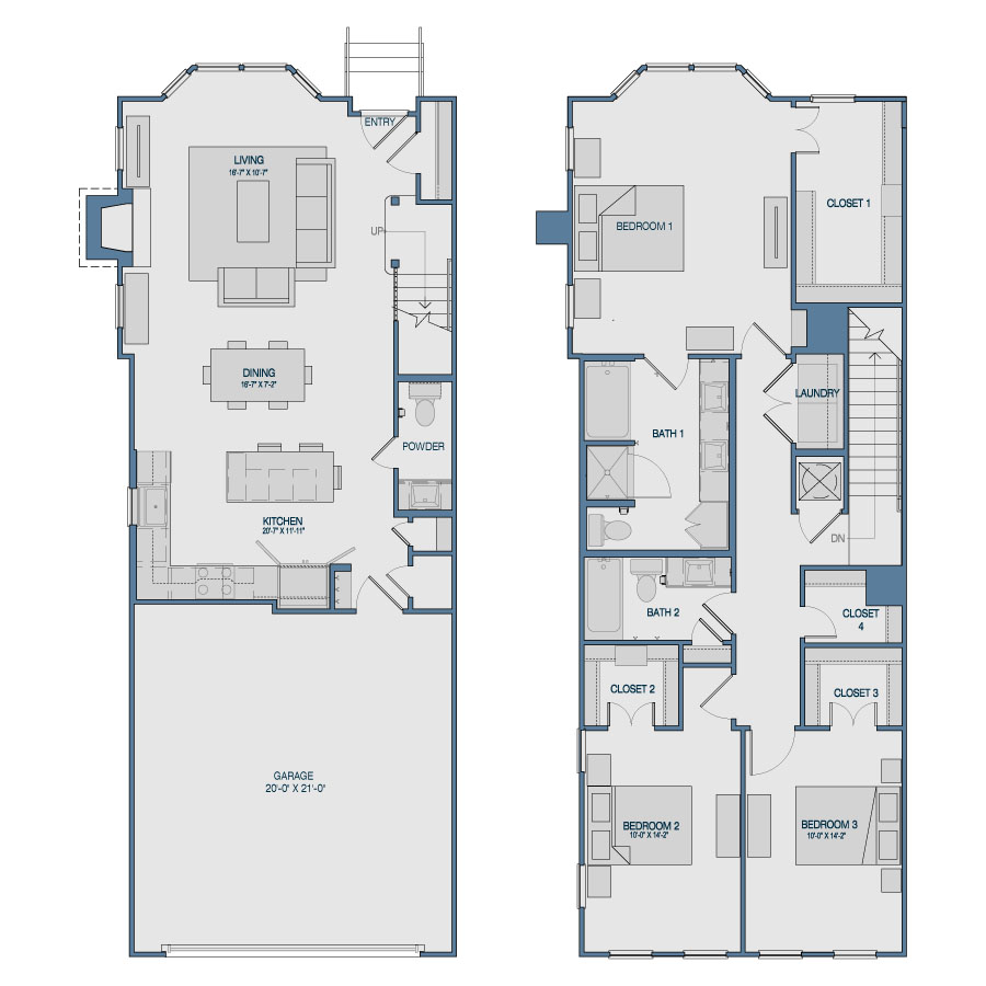 1,894 sq. ft. TH7 floor plan