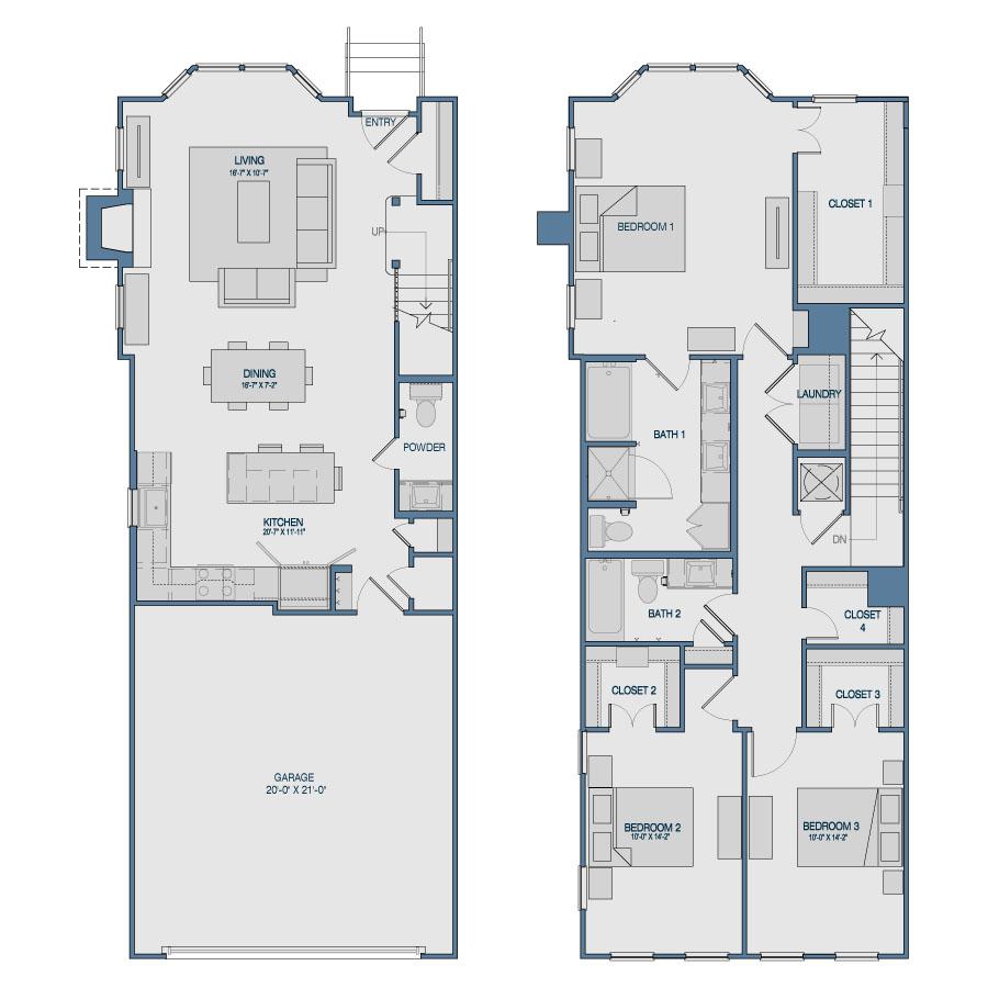 1,894 sq. ft. TH7 floor plan