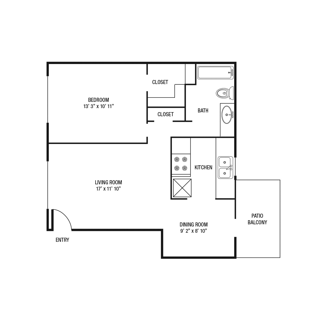 706 sq. ft. floor plan