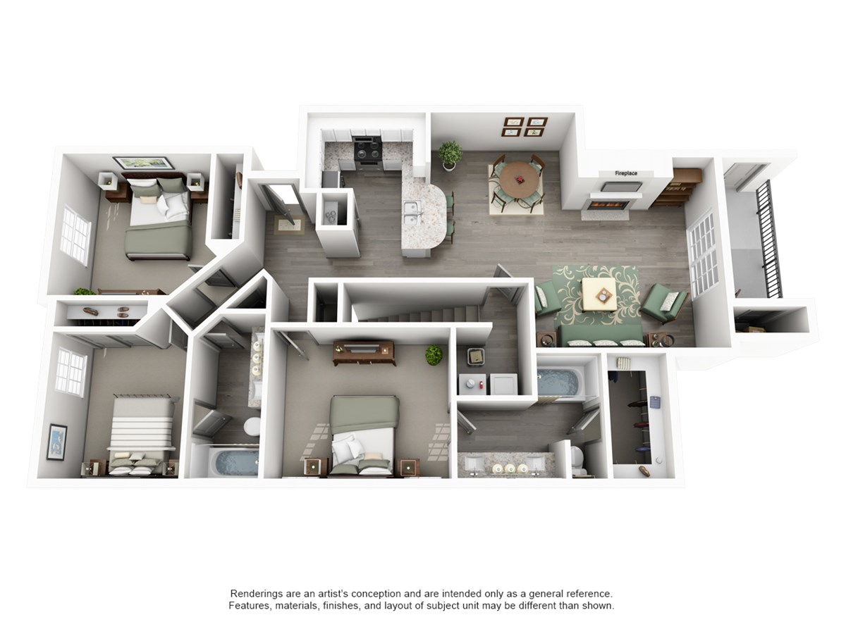 1,322 sq. ft. Crest floor plan