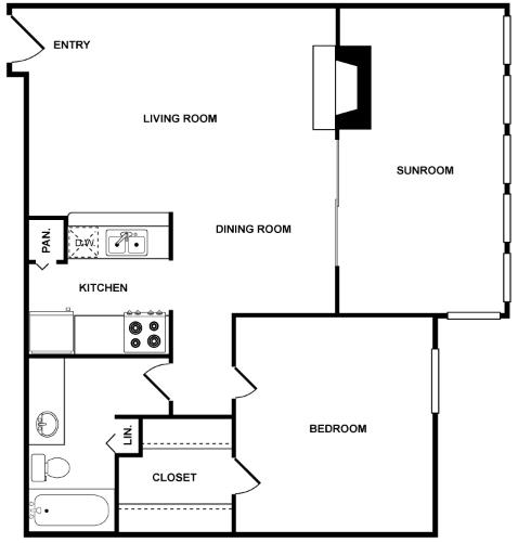 841 sq. ft. Luna floor plan
