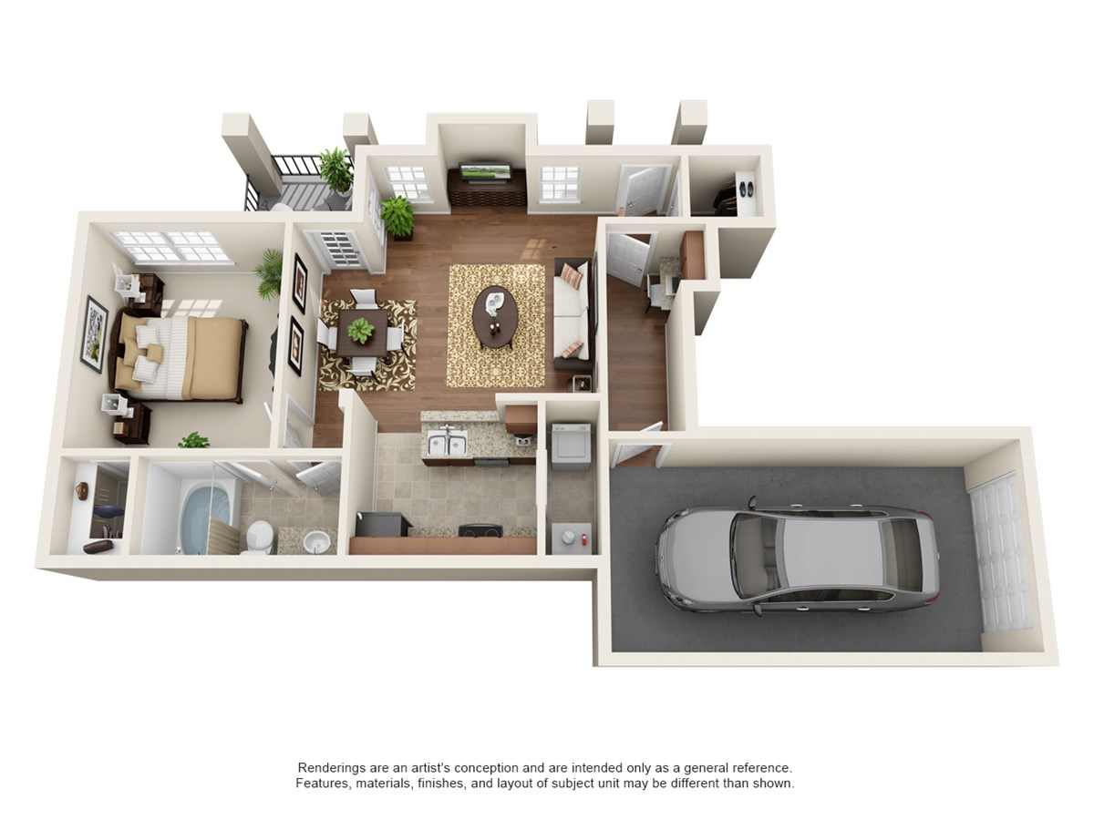 719 sq. ft. Sonoma floor plan