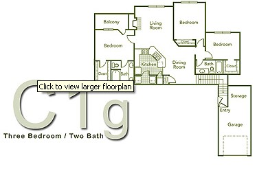 1,395 sq. ft. C1G floor plan