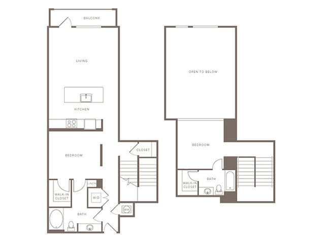 1,261 sq. ft. B10L floor plan