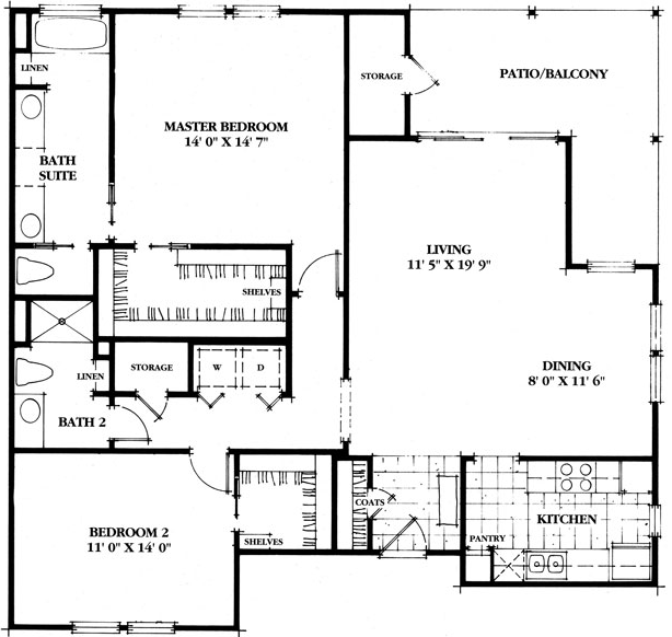 1,320 sq. ft. Salado floor plan