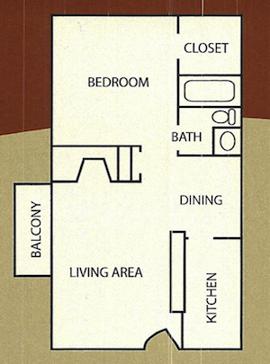 534 sq. ft. Winston floor plan