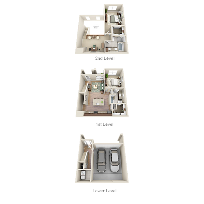 1,446 sq. ft. B2 floor plan