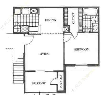 544 sq. ft. Elite floor plan