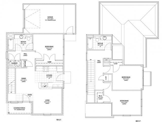 1,379 sq. ft. C1M 60% floor plan