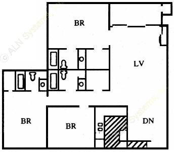 1,348 sq. ft. O floor plan