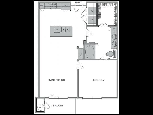 752 sq. ft. C floor plan