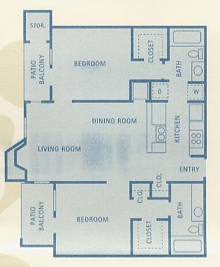 911 sq. ft. Scorpio floor plan