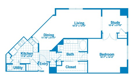 1,188 sq. ft. AT3 floor plan