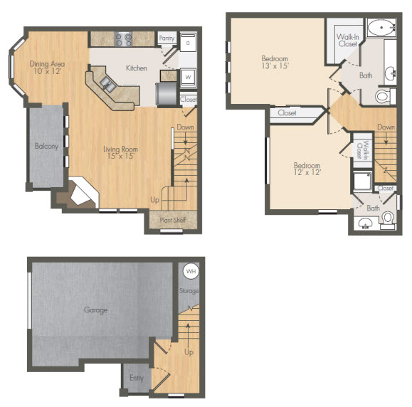 1,256 sq. ft. B4 floor plan