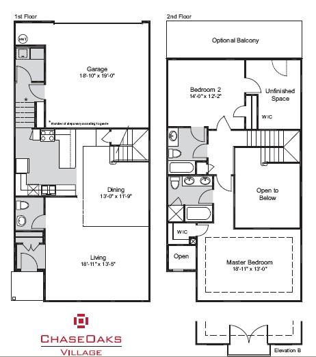 1,724 sq. ft. G floor plan