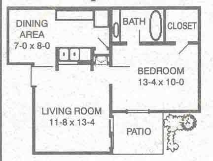 530 sq. ft. A floor plan