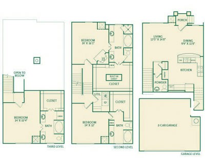 2,303 sq. ft. C2 floor plan