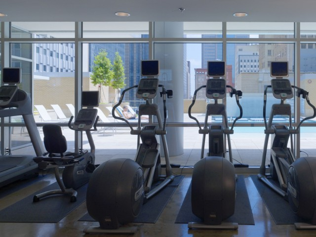 fitness center at Listing #144721