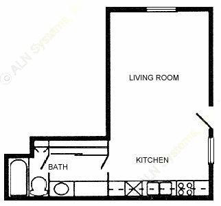 430 sq. ft. 60 floor plan