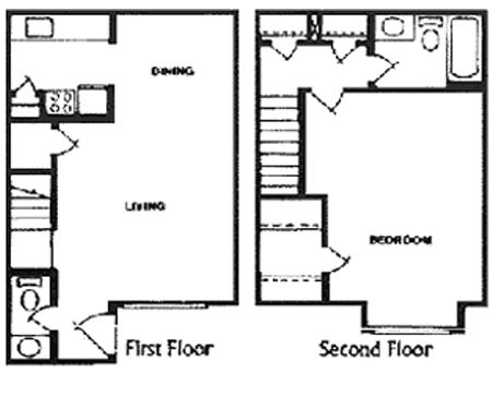 831 sq. ft. D floor plan