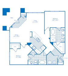 1,259 sq. ft. to 1,276 sq. ft. San Juan floor plan