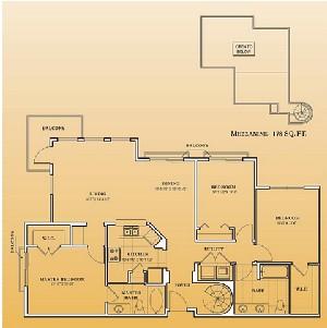 1,399 sq. ft. C1-201.301 floor plan