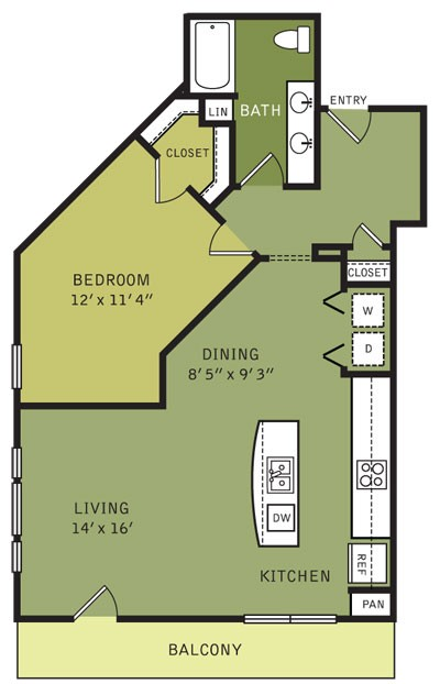 930 sq. ft. A4ALT (II) floor plan