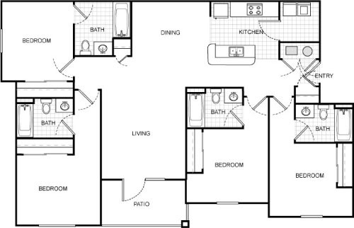 1,440 sq. ft. floor plan