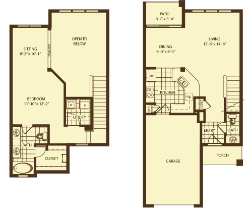 1,060 sq. ft. Westport floor plan
