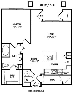 876 sq. ft. Heathrow - A3.3HG floor plan