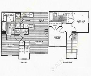 1,161 sq. ft. Birchwood/50% floor plan