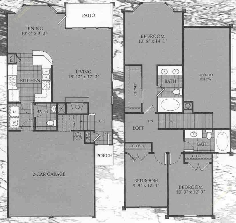 1,489 sq. ft. Oxford floor plan