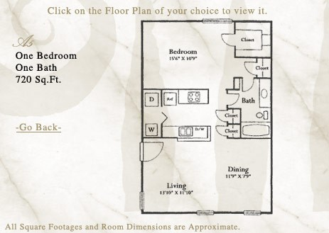 720 sq. ft. A5 floor plan