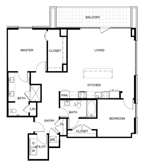 1,389 sq. ft. B7 floor plan