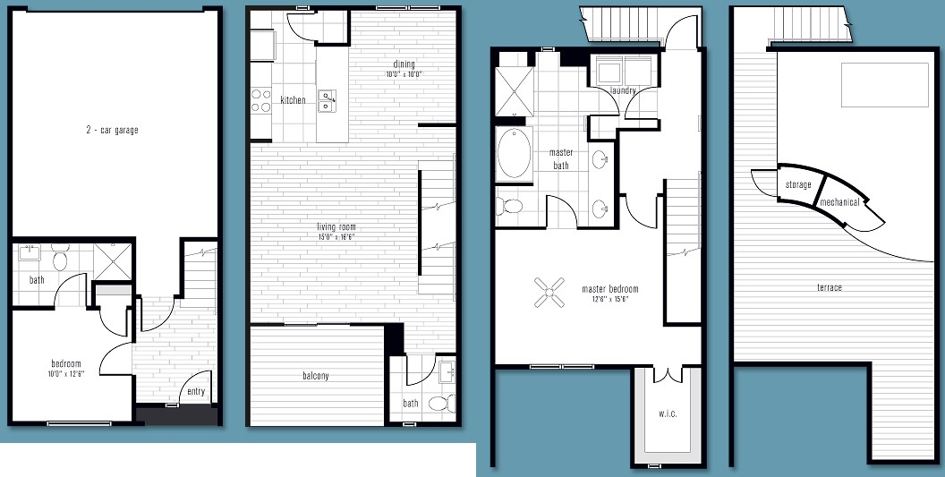1,558 sq. ft. AA floor plan