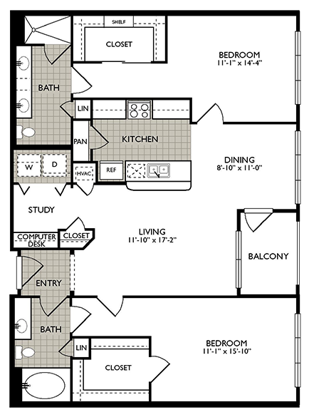 1,276 sq. ft. JOY floor plan