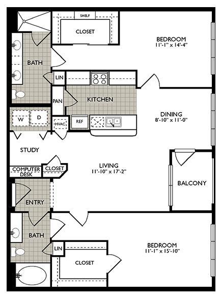1,276 sq. ft. Joy floor plan