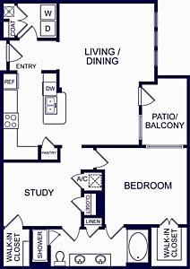 1,158 sq. ft. Marbella floor plan
