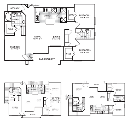 1,401 sq. ft. to 1,415 sq. ft. C2 PH II floor plan